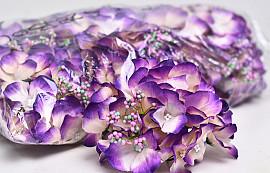 Hydrangea Head D14cm Blue/Purple