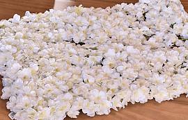 Panneau de fleurs 60x40cm Blanc