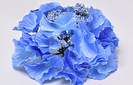 Hydrangea Head D16cm Blue
