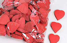 Coconut Heart Red 3cm 100pcs