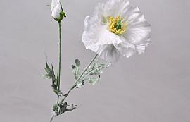 Poppy Flower 64cm White