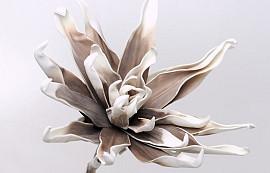 Fleur en mousse Blanc/Mocca, D 35cm