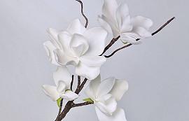 Blüte Schaumstoff 70cm Weiß