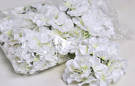 Hydrangea Head D14cm White