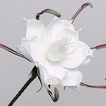 Fleur en mousse Blanc, D 20cm