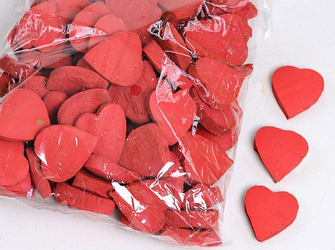 Coconut Heart Red 3cm 100pcs