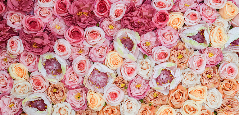 Ombre bloemenwand